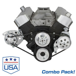 Big Block Chevy Alternator Power Steering Bracket Combo Pack Short Wp 454 Bbc