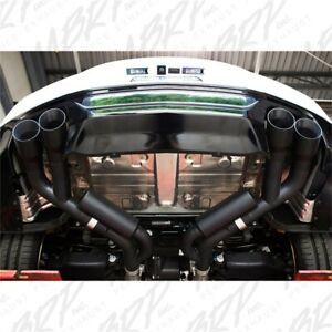 Mbrp 2 5 Dual Axle Back Exhaust 4 Quad Tips Black Fits 2018 19 Ford Mustang Gt