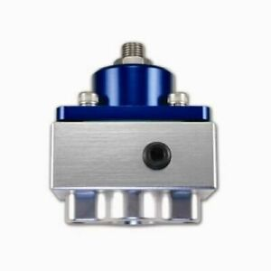 Quick Fuel 30 1899 Fuel Pressure Regulator 4 1 2 9 Psi Aluminum Blue Anodized