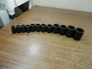 Williams 12 pc Impact 1 2 Drive Impact Sae Socket Set Usa