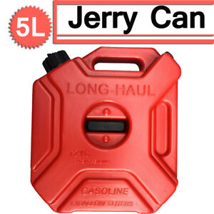Portable 5l Emengency Jerry Can Oil Fuel Gas Tank For Atv Off Road Motorbike Us