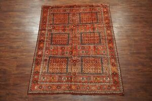 7x9 Antique Kurdish Hand Knotted Wool Area Rug 1900 S Carpet 6 9 X 9 4