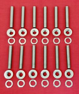 Sb Mopar 273 318 340 360 Engine Intake Manifold Stainless Steel Stud Bolts Kit