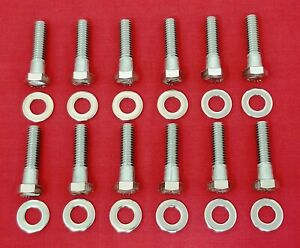 Sbm Intake Manifold Bolts Kit Mopar 273 318 340 360 Stainless Steel Hex Set