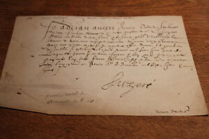 Rare 1608 First Valet Of The Chamber Of The King Henry Iv Parchment Manuscript