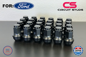 2004 2014 F 150 Ford Oem Replacemnt Lug Nuts 14x2 Thread Flat Black 24 Pieces