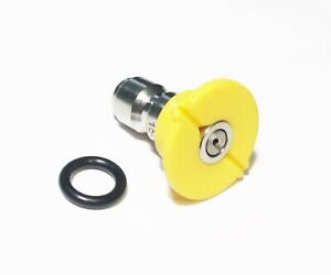 Pressure Washer Quick Connect Tip Nozzle Size 3 5 Gpm Yellow 15 Degree Spray