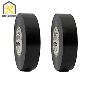 Pack Of 2 Black Pvc Electrical Tape 71 Inch X 50ft Free Ship