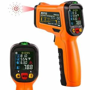 Digital Laser Infrared Thermometer Led Display K Type Thermocouple Bbq Automotiv