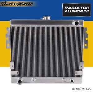 For Ford Mustang Ii 5 0l V8 Stamp Tank 75 78 75 76 Aluminum Racing Radiator