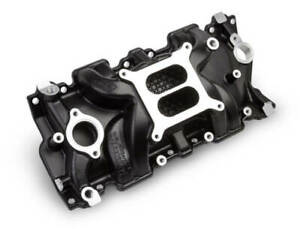 Weiand 8120bk Black Intake Manifold Small Block Chevy V8 262 400 Fits 55 86