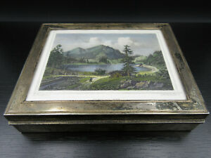 R795 Cigar Box Th Heiden Silver 925 With Picture Spitzing Lake