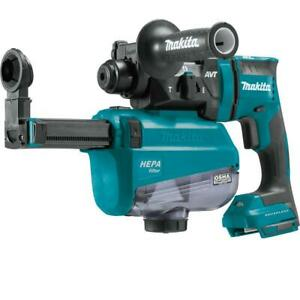 Makita Cordless Avt Rotary Hammer 11 16 Inch Hepa Dust Extractor 18v Lithium Ion