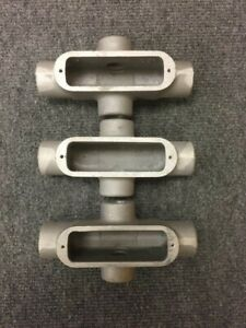 Crouse hinds X29 3 4 X Aluminum Condulet lot Of 3
