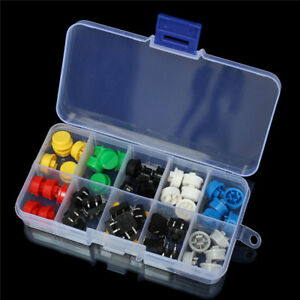 5 For 50pcs Tactile Push Button Switch Momentary Tact Cap Assorted Kit