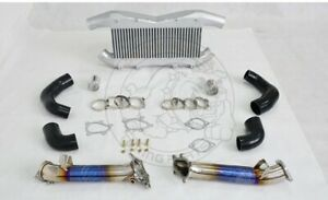 Titanize Catless Downpipe Front Mount Performance Intercooler For Nissan Gtr R35