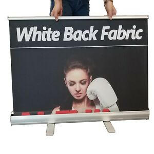 24 x40 2 Pack tabletop Standard Retractable Roll Up Banner Display Stand