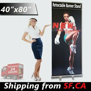 40 x80 Wholesale Heavy duty Retractable Banner Roll Up Trade Show Display Stand
