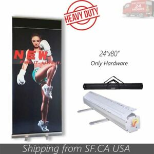 24 x80 2pcs standard Retractable Roll Up Trade Show Display Pop Up Banner Stand