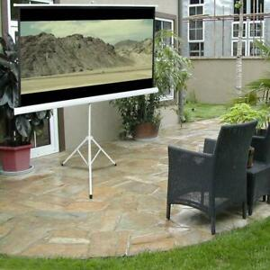 84 Tripod Portable Projector Projection Screen 16 9 Foldable Stand Home Theatre