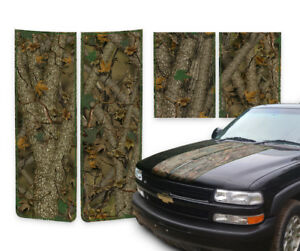 Chevy Tahoe Racing Stripes Hood Decals Tailgate Forest Camo Green 2000 2006