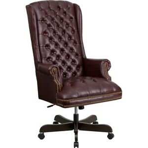 Flash Furniture Bonded Leather Office Chair Burgundy Ci 360 by gg