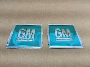 1967 Original Corvette Chevy Chevelle Camaro Door Jam Decals Trim Emblems Pair