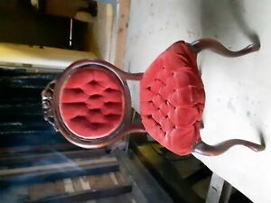 Red Victorian Button Chair