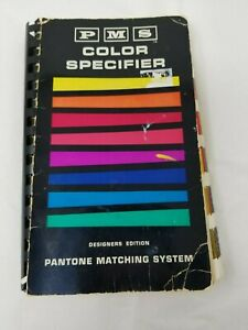 Pantone Pms Ink Chips Color Specifier Books Coated Uncoated Used 1963