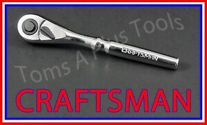 Craftsman Hand Tools 1 4 Drive Full Polish Quick Release Ratchet Socket Wrench