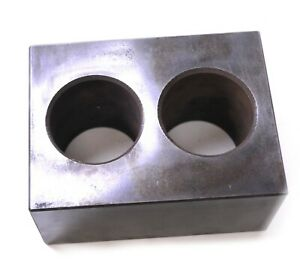 Toolroom Precision Machinist Hardened Steel Block Angle Parallel 2 Holes 8x6x4