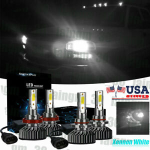 F2 100w Combo 9005 H11 Led Headlight Bulb High Low Beam For Chevy Colorado 15 19