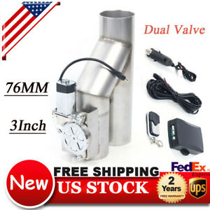 3 Electric Exhaust Catback Downpipe Cutout E Cut Out Dual Valve Switch Control