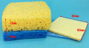Thick Blue Welding Iron Tip Cleaning Sponge Universal Solder Replacement Pad