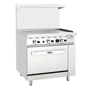 Atosa Range 36 in Gas Range 36 Griddle And 36 Oven Ato 36g