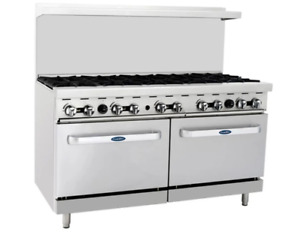 Atosa Range 60 in Gas Range 10 burner two 26 Ovens Ato 10b