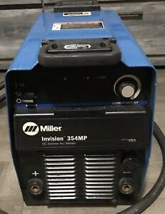 Miller Invision 354mp Pulse Mig mig Welder W 2 Used Leads Tested And Working