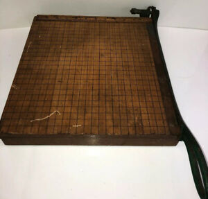 Antique Paper Trimmer No 12 Paper Cutter Really Old R h s Trimmer