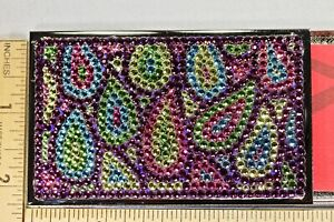 Peacock Feather Business Card Case Cute Holder W Swarovski Crystal Crystallized