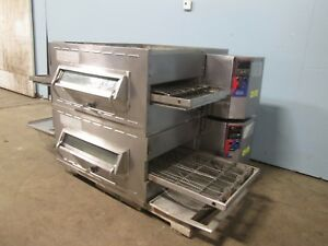 middleby Marshall Commercial Hd Double Stacked Electric Conveyor Pizza Oven