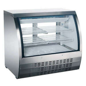 Omcan Rs cn 0092 s 36 12cf Commercial Refrigerated Bakery Deli Display Case