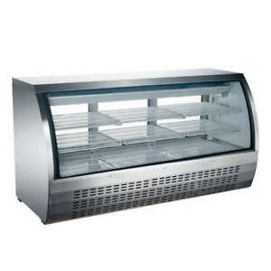 Omcan Rs cn 0163 s 64 22cf Commercial Refrigerated Bakery Deli Display Case