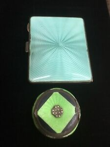 1904 1810 Sterling Enamel Cigarette And Snuff Case Beautiful