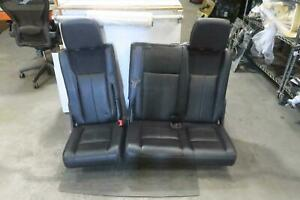 2013 Ford Expedition 3rd Row Rear Seat Set Bench Black Leather Oem