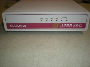 C18471 Beckman 406 System Gold Analog Interface Module Powers Up As Shown