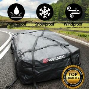 Wisamic Car Top Waterproof Roof Cargo Bag Soft Luggage Carriers 30 Cubic Feet