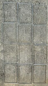 Wire Chip Basket 9x7x1 Stainless Steel Welded Mesh Lot Of 12