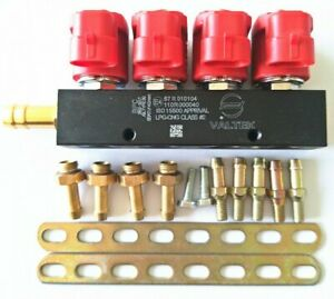 Cng Lpg Injector Rail 3ohms For 4cylinder Sequential Injection System Common