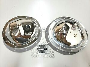 Chevy Gmc 4wd 10 Bolt Front Rear Chrome Steel Differential Covers 77 91 K 5
