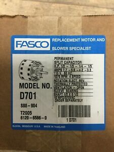 D701 Fasco Furnace Blower Motor 1 2hp